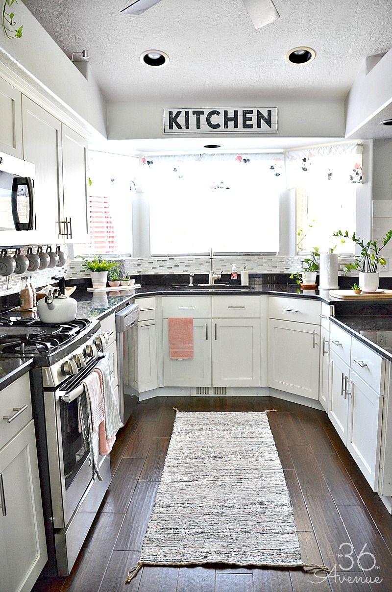 Charmant White Kitchen   Pink Kitchen Decor   The 36th AVENUE