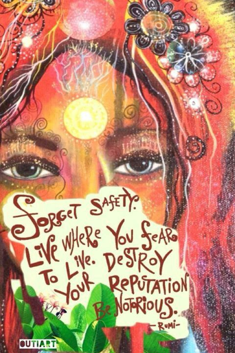 Forget Safety. Live where you fear to live. Destroy your reputation. Be Notorious.  -Rumi