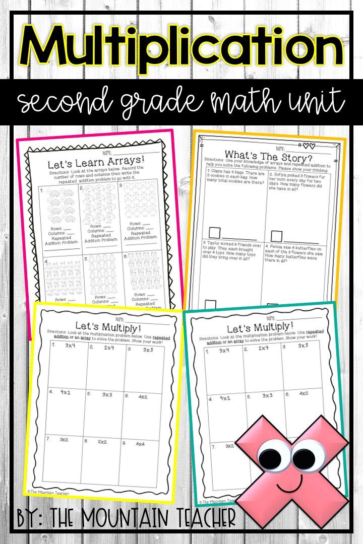 Second Grade Multiplication and Arrays Unit | TPT TEACHING ...