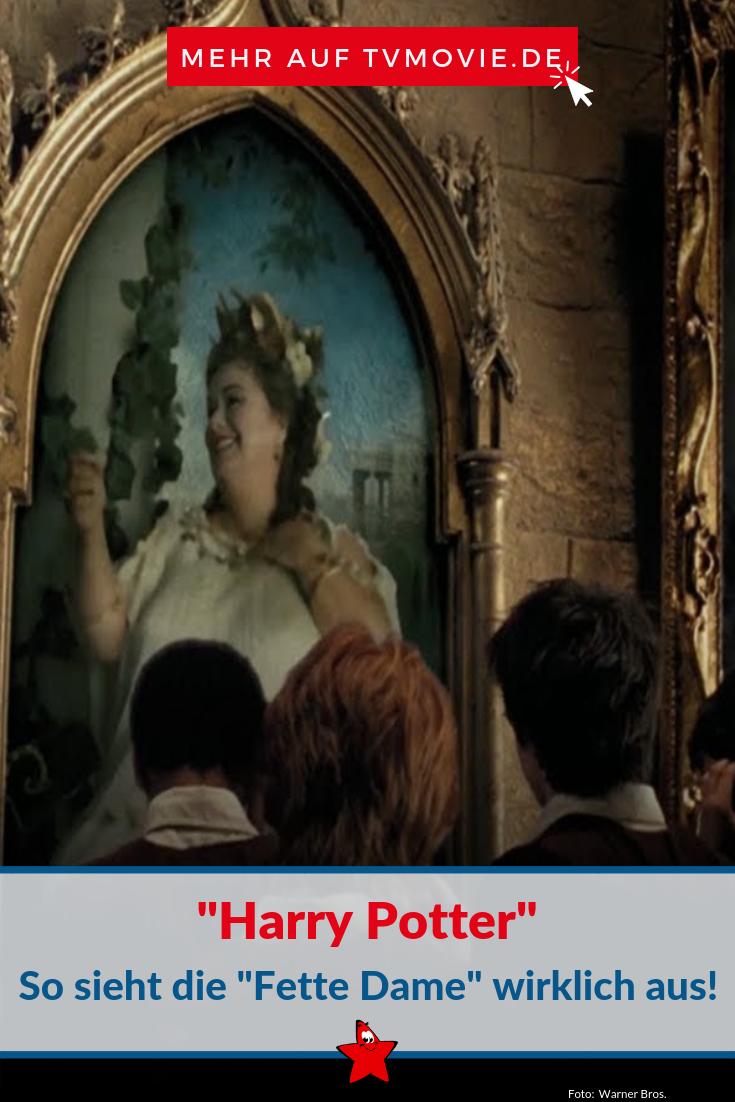 Harry Potter So Sieht Die Fette Dame In Echt Aus Harry Potter Hogwarts Phantastische Tierwesen