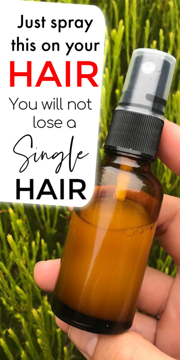Just spray this water on your hair and you'll not lose a single hair #organichaircare