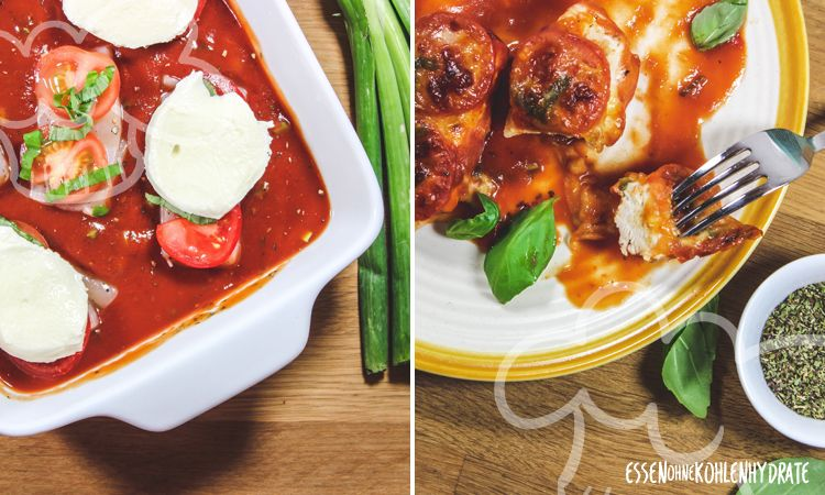 Photo of Oven-fried chicken with mozzarella – food without carbohydrates