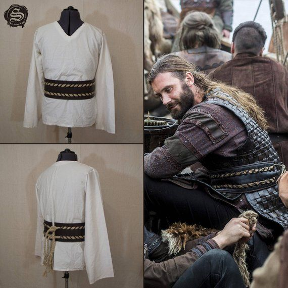 017ad7be Leather Viking's Belt with rope / inspired Rollo Sigurdsson ...