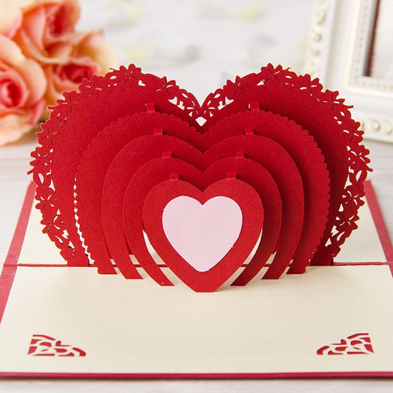 Открытки к дню святого валентина киригами