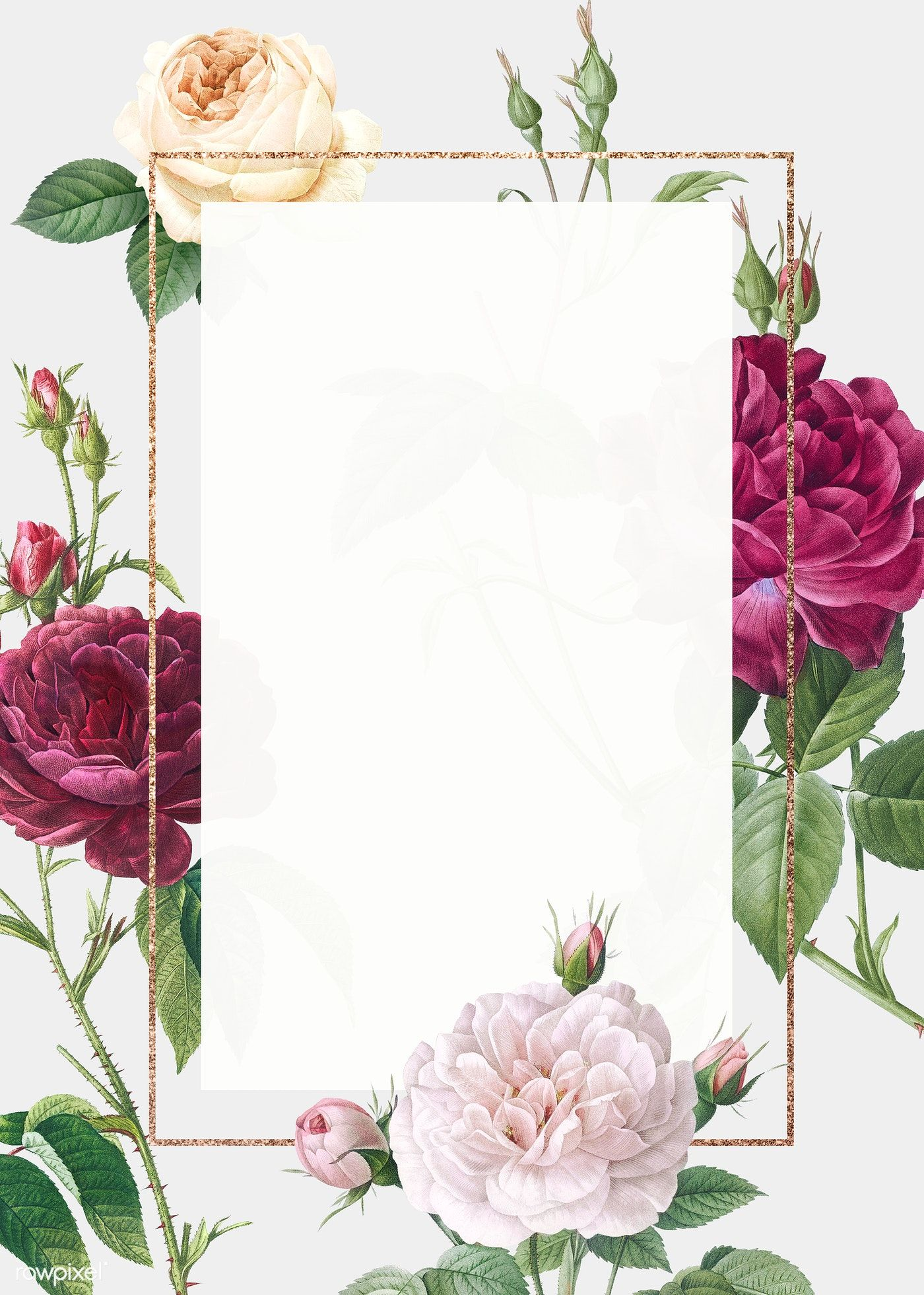 Download Premium Illustration Of Floral Wedding Invitation Mockup