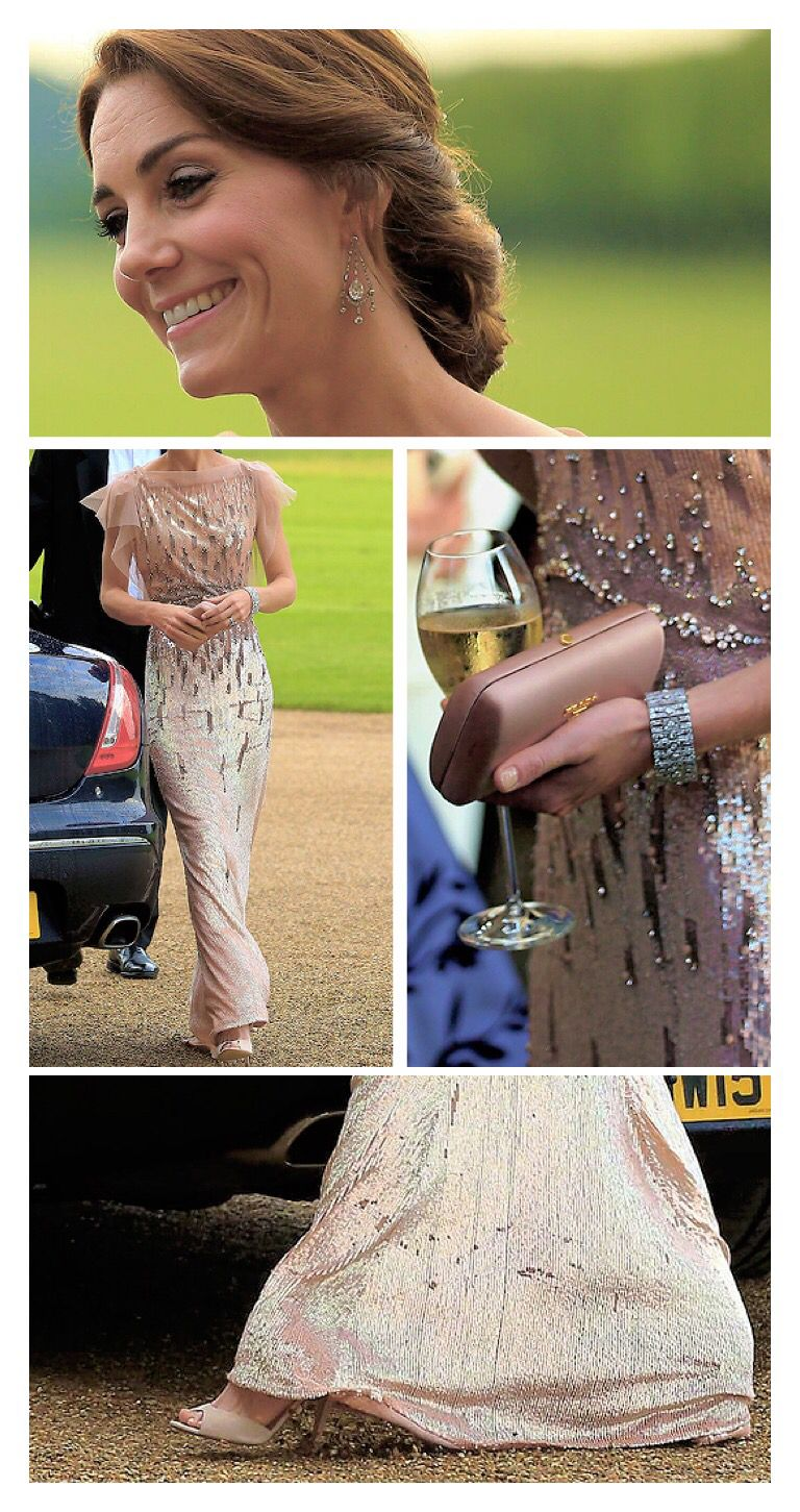 Catherine middleton outfits the queens elegant chandelier earrings catherine middleton outfits the queens elegant chandelier earrings jenny packham sequin gown pink arubaitofo Images