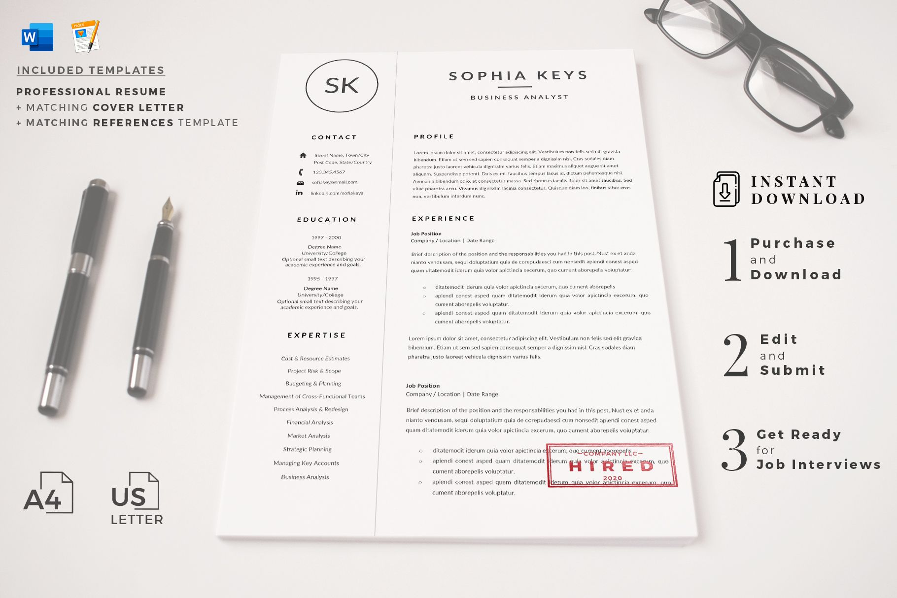 Creative resume format for Freshers. Internship Resume
