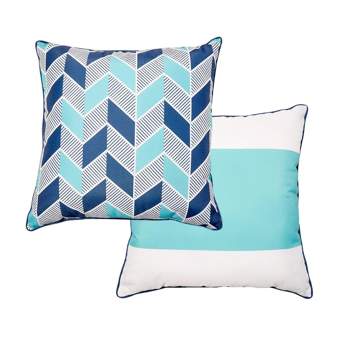 Reversible 50cm Outdoor Cushion Cove Kmart Outdoor