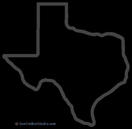 Texas Map Outline Printable State Shape Stencil Pattern Texas Map Art Texas Outline Texas Map