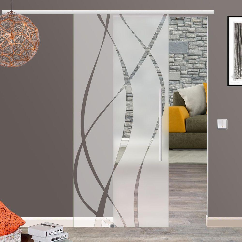 Details zu Soft Stop Glasschiebetür Glas Schiebetür 775/900 ...