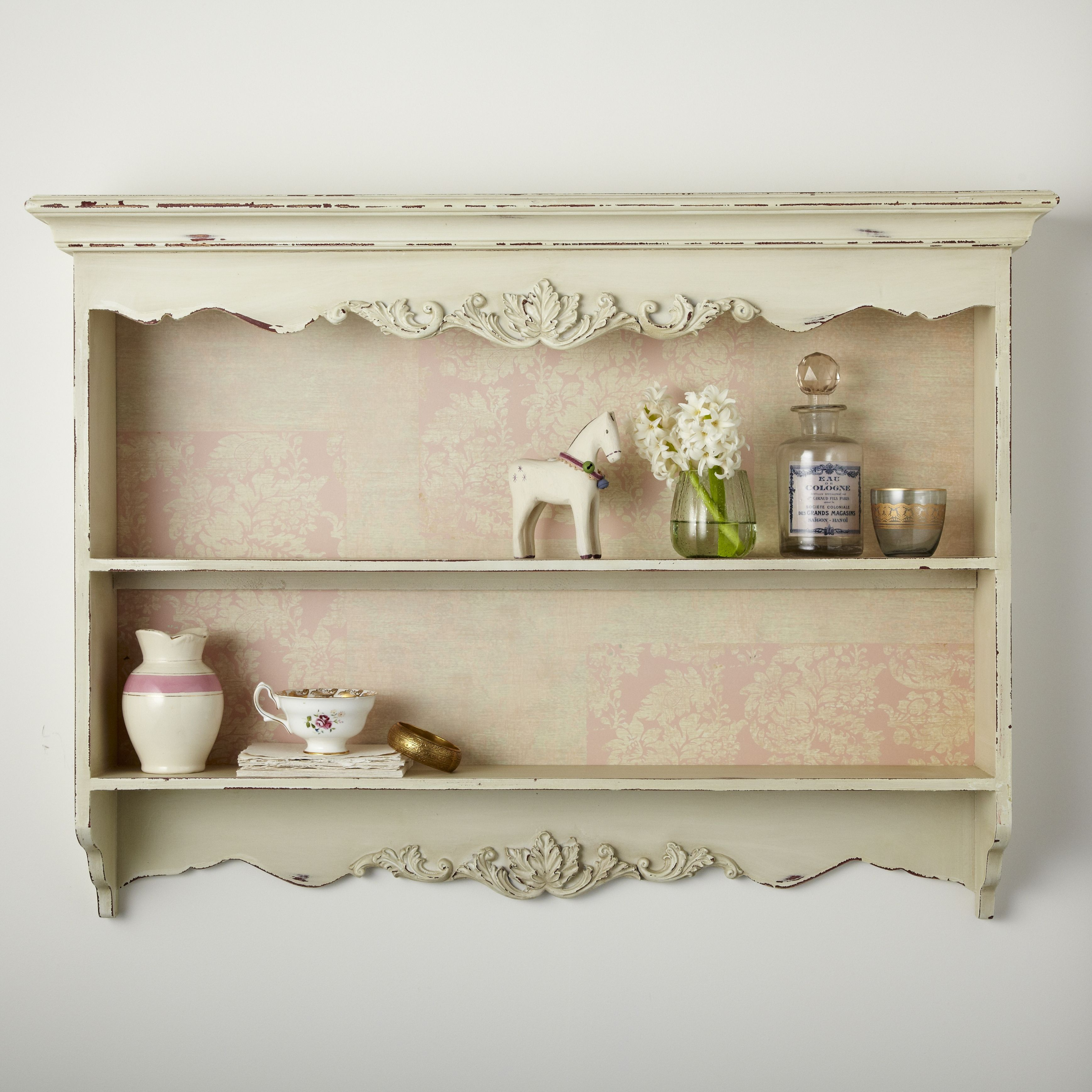Shabby Chic Wall Shelf Unit | House and Home | rigby & mac | Mesas ...