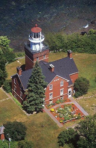 Big Bay Point Lighthouse, Lake Superior, Michigan Upper Peninsula, MI