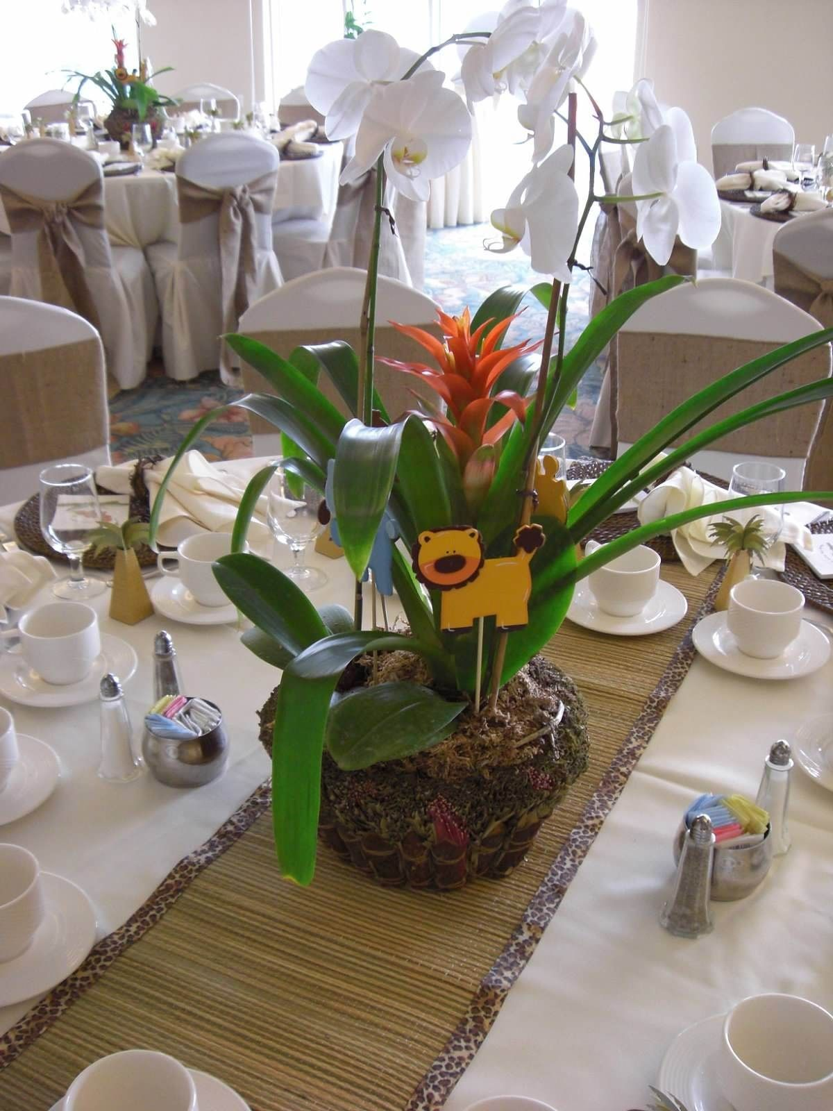 Safari Baby Shower Orchid Centerpiece Quot My Diy Quot Board In