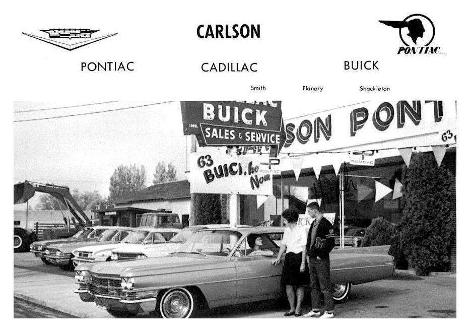 1963 Carlson Pontiac-Cadillac-Buick Dealership, Reedsburg, Wisconsin ...