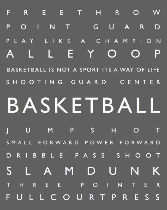 Basketball Personalized Prints Kids Wall Art Modern Playroom