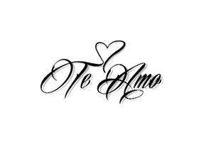 Te Amo Temporary Tattoo Frases De Amor Melhores Frases De Amor