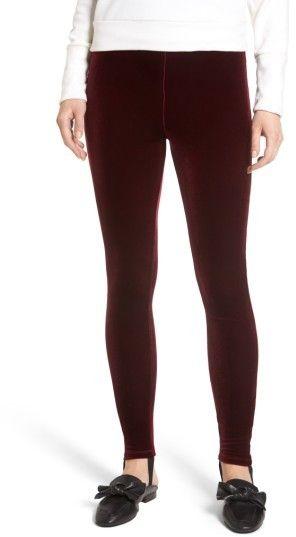 Leith Women's High Waist Velour Stirrup Pants
