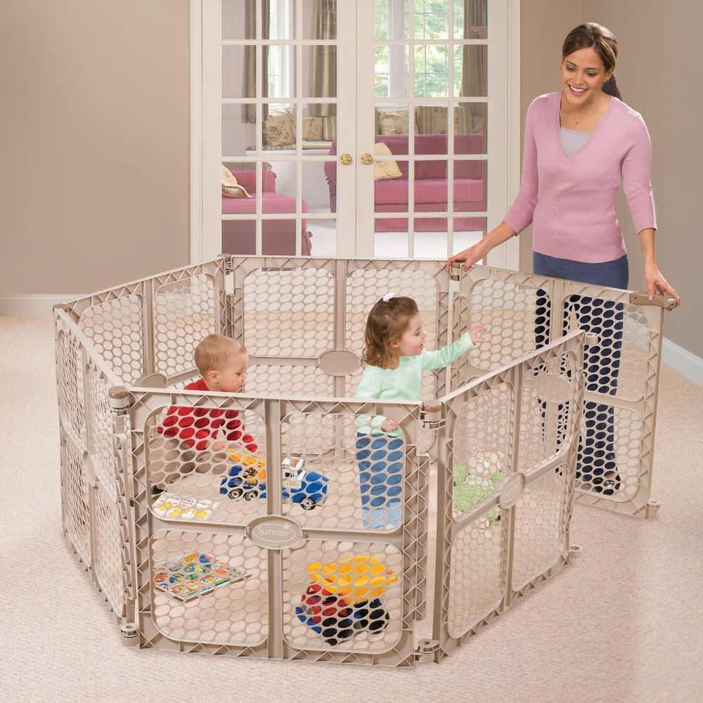 Infant Pet Secure Surround Safety Gate Baby Playard Playpen Child Kids Play Yard Outdoor Baby Baby Playpen Child Safety Gates