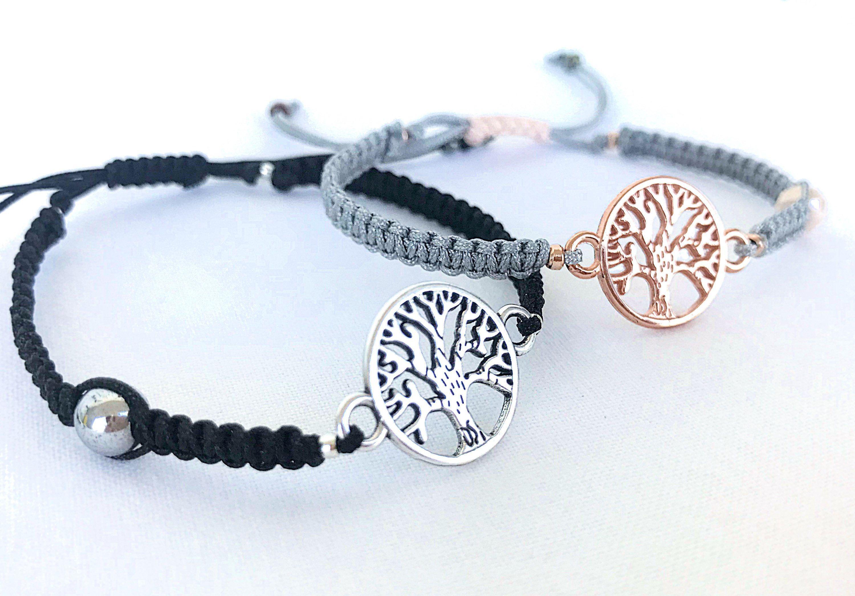 Tree Of Life Bracelets 2 Set Macrame Thread Soulmate S Friends Yoga Gift By Katiaicrafts On