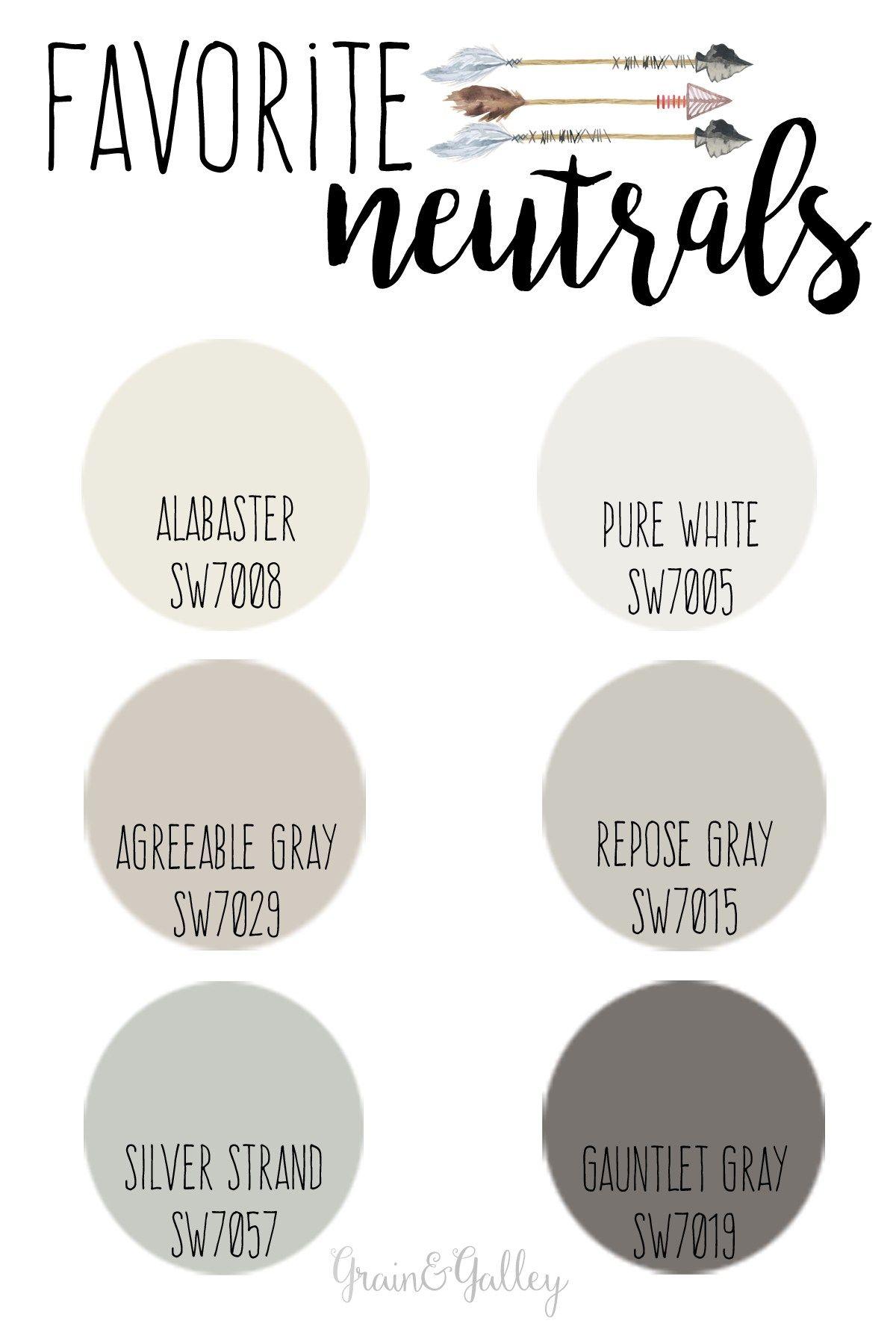 Paint Colors Neutral Favorites