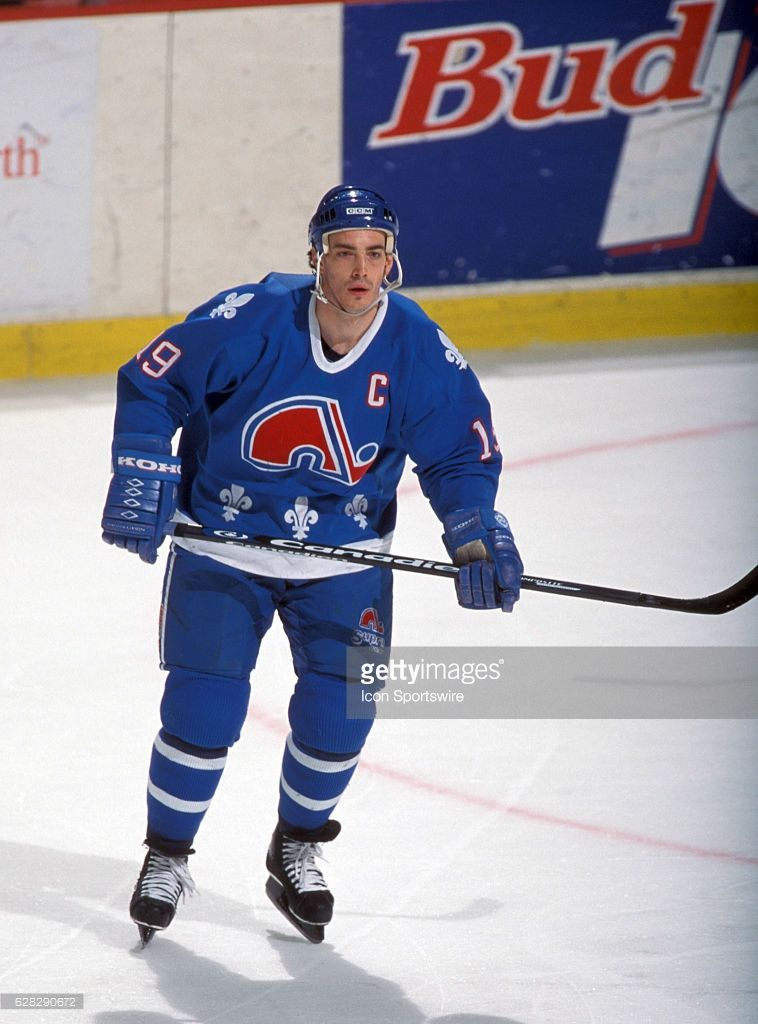 Joe Sakic Of The Quebec Nordiques Quebec Nordiques Nhl Hockey Players Nhl Players