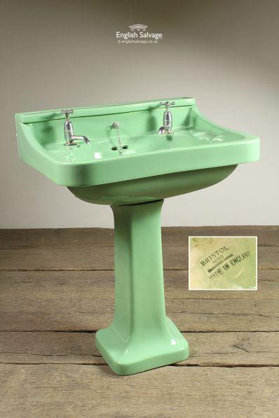 Bristol Venus Green Pedestal Basin