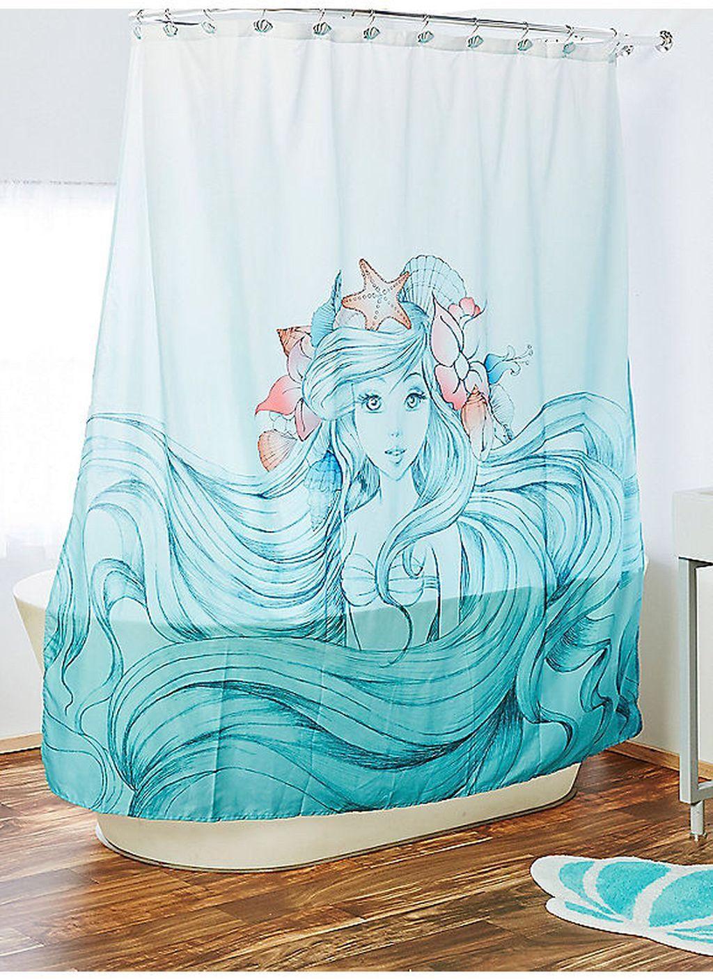30 Mermaid Shower Curtain For Kids Bathroom