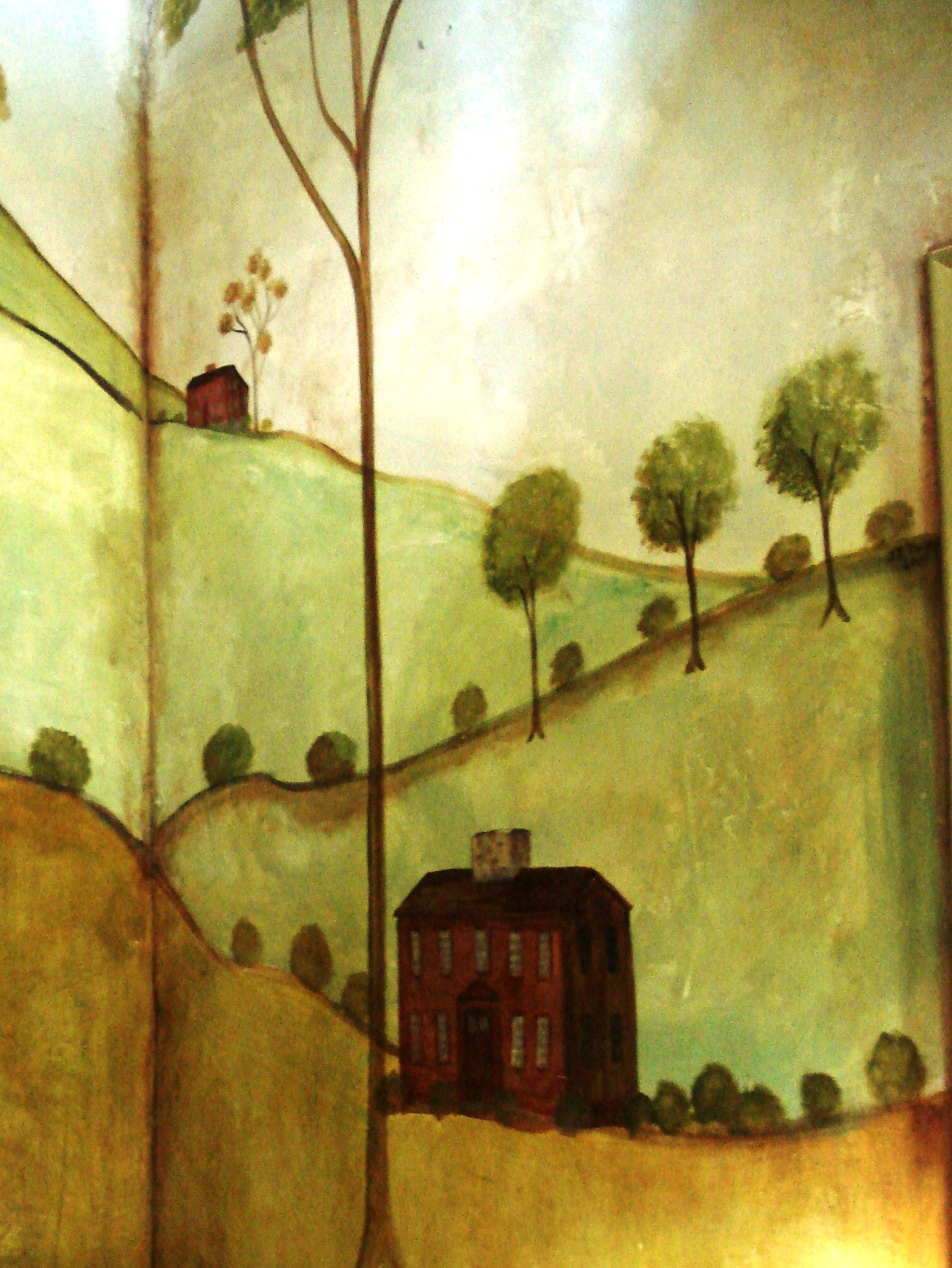 English Home ~ by Susan Dwyer. Love this painted mural. | Decorating ...