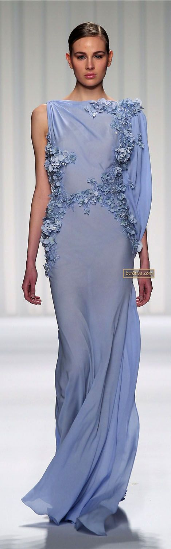 Abed Mahfouz Couture Spring Summer 2013 v | periwinkle wedding dress