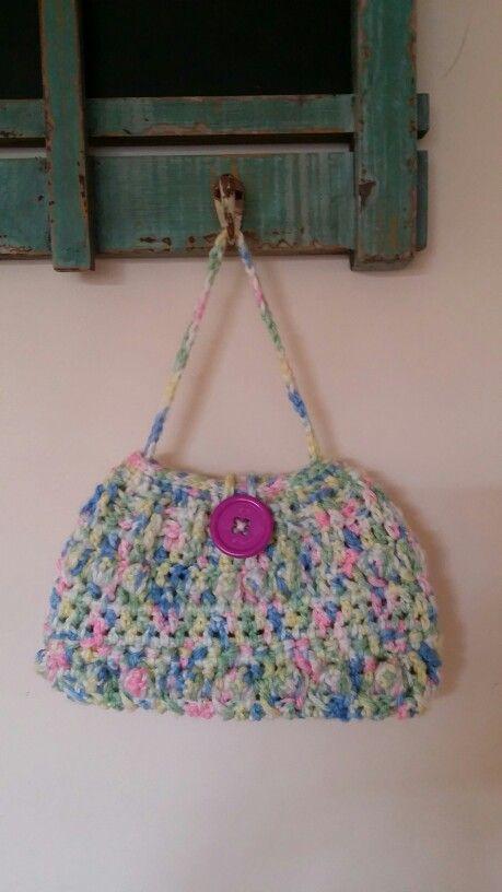 Little girls crochet bag