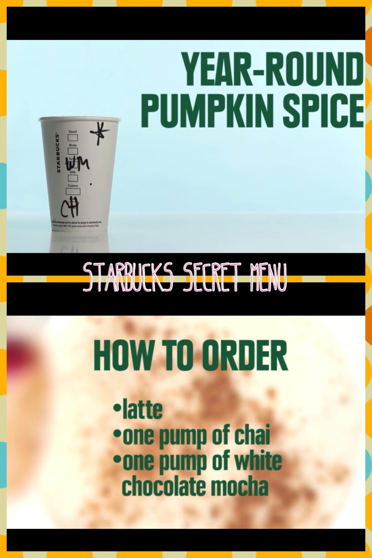 How to Order a Year Round Pumpkin Spice Latte! Yes! All year long ...