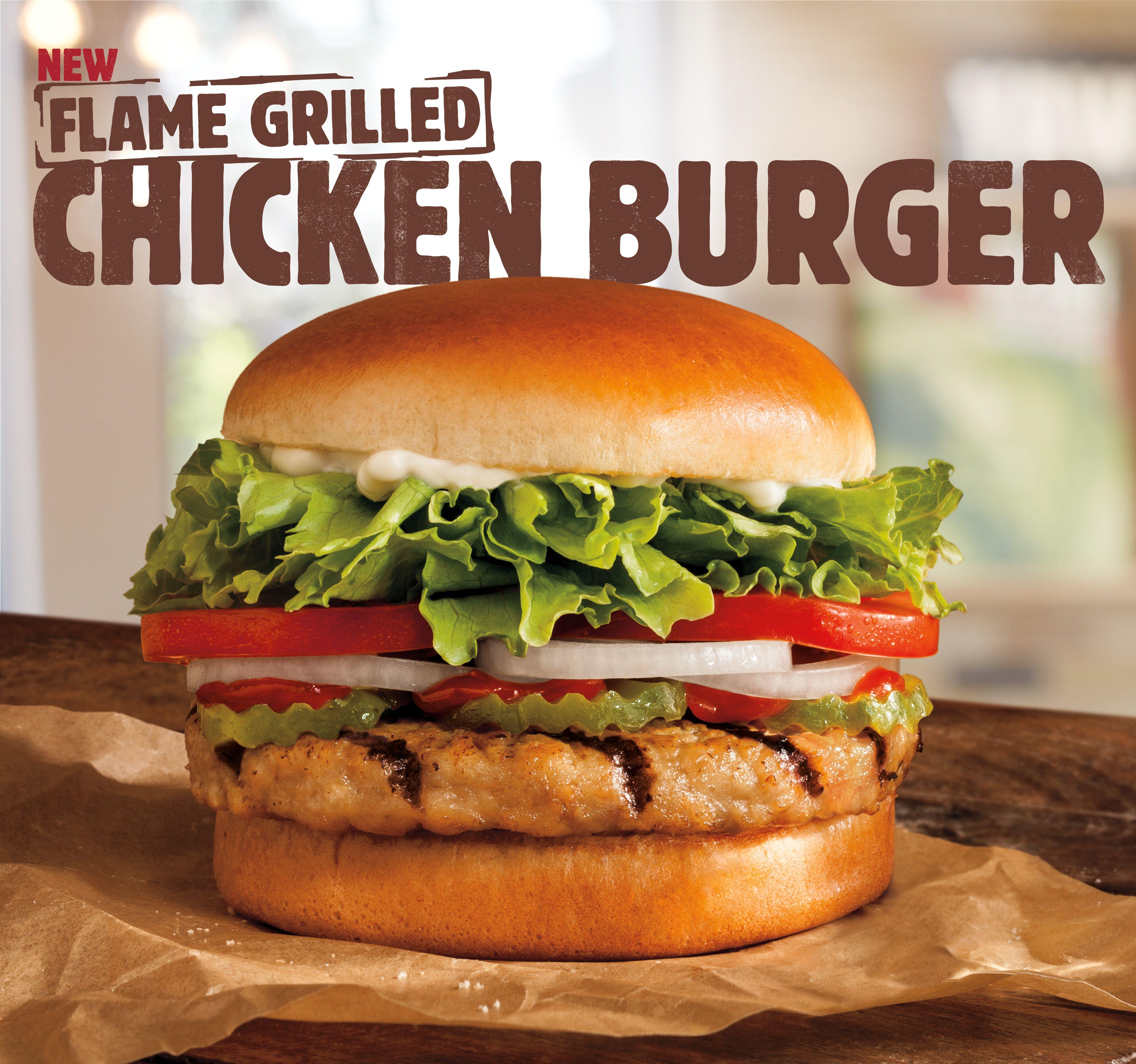 BURGER KING® Restaurants Introduce Flame Grilled Chicken Burger