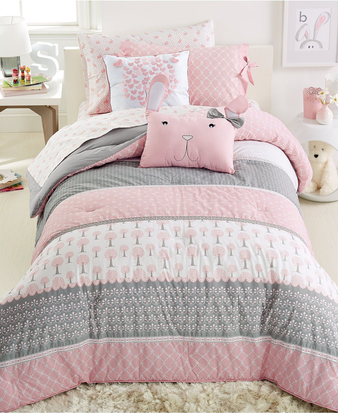Frank And Lulu Heartwood Forest 3-Pc. Comforter Set - Kids\' Bedding ...