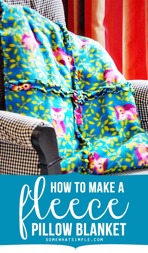 Super easy fleece pillow + blanket tutorial