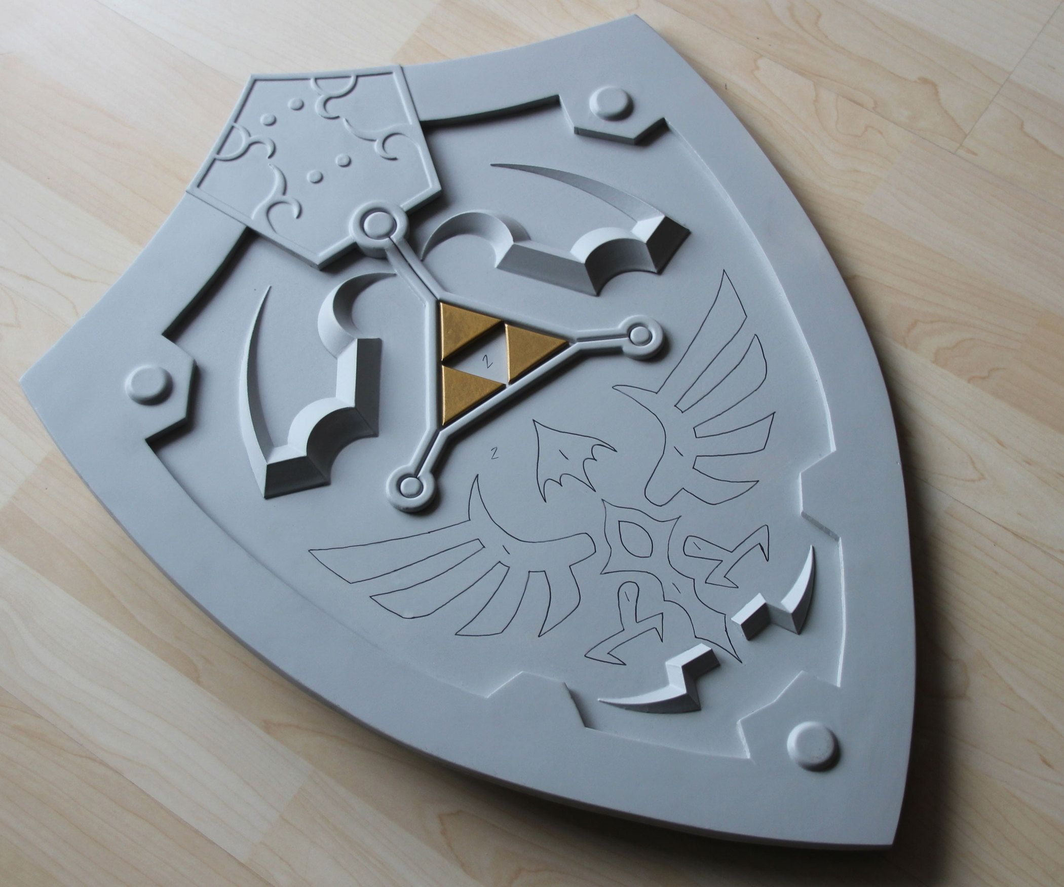 Paint by number zelda shield dremel and ornament