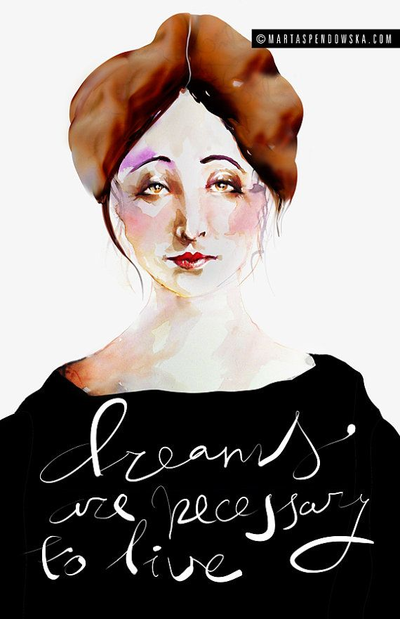 Watercolor Illustration : Portrait of Anais Nin on #ETSY Giclée by martaspendowska, $26.00