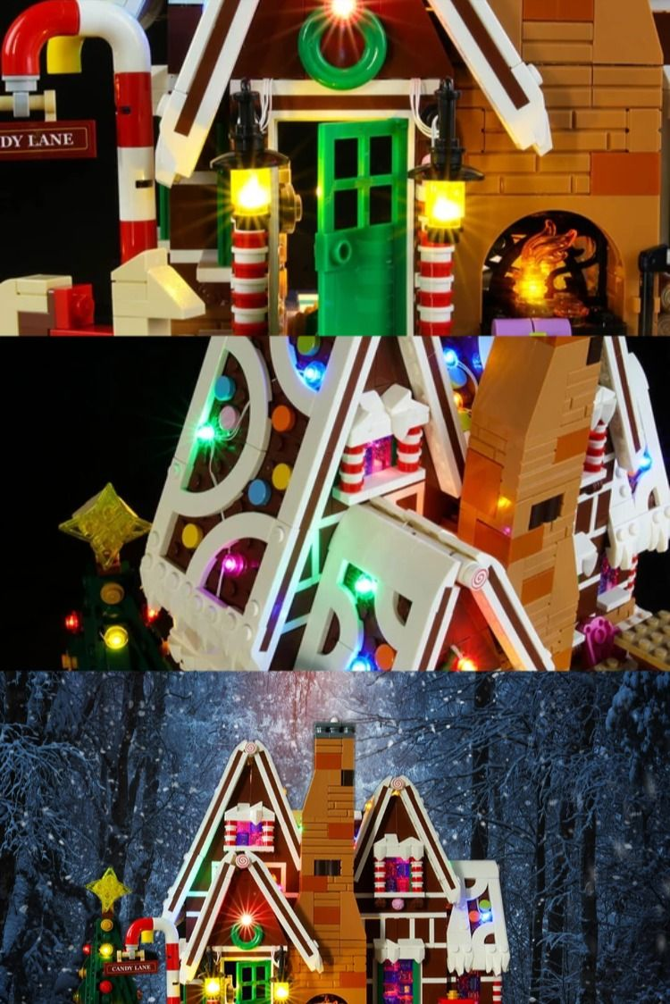 Light Kit For Gingerbread House 10267 Lego gingerbread