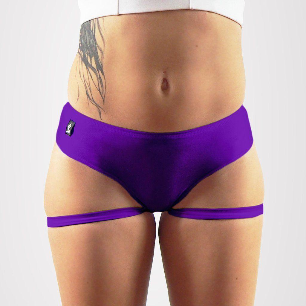 Plum Garter Pole Dancing Shorts Sexy Sway polewear Stripperwear