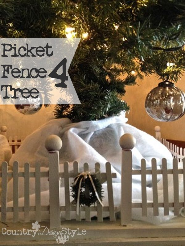 Picket Fence For Christmas Tree Country Design Style Christmas Tree Fence Holiday Decor Christmas Beach Christmas Decorations