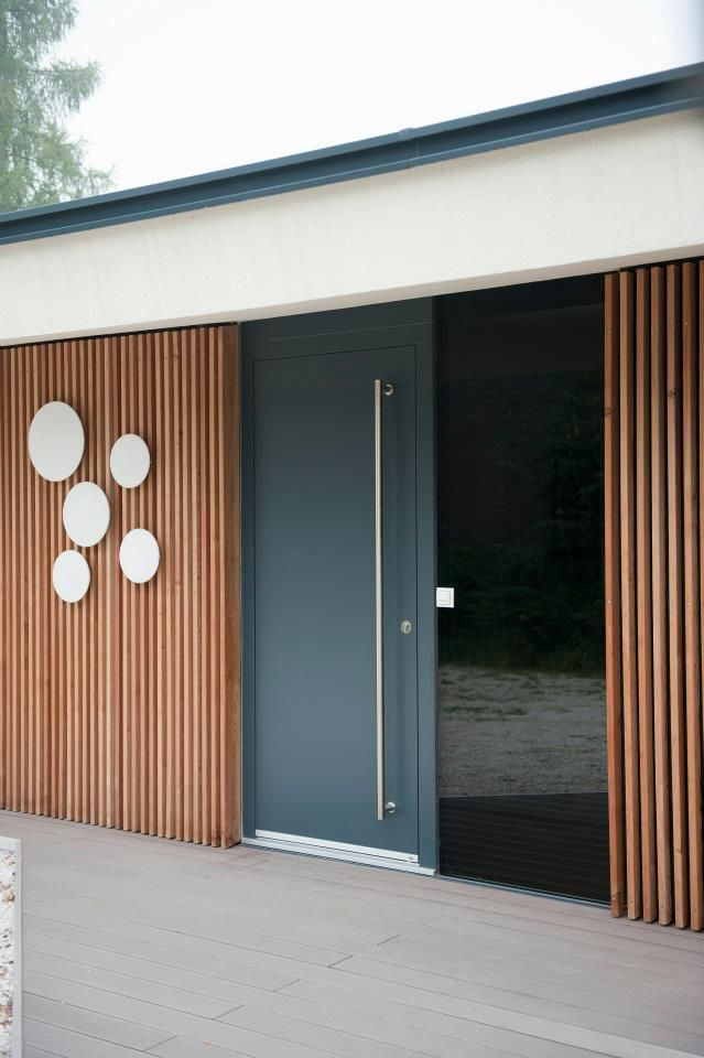 Nebeneingangst R Anthrazit haus türen josko aluminium holz werkstoffe modernes design haus modernes design