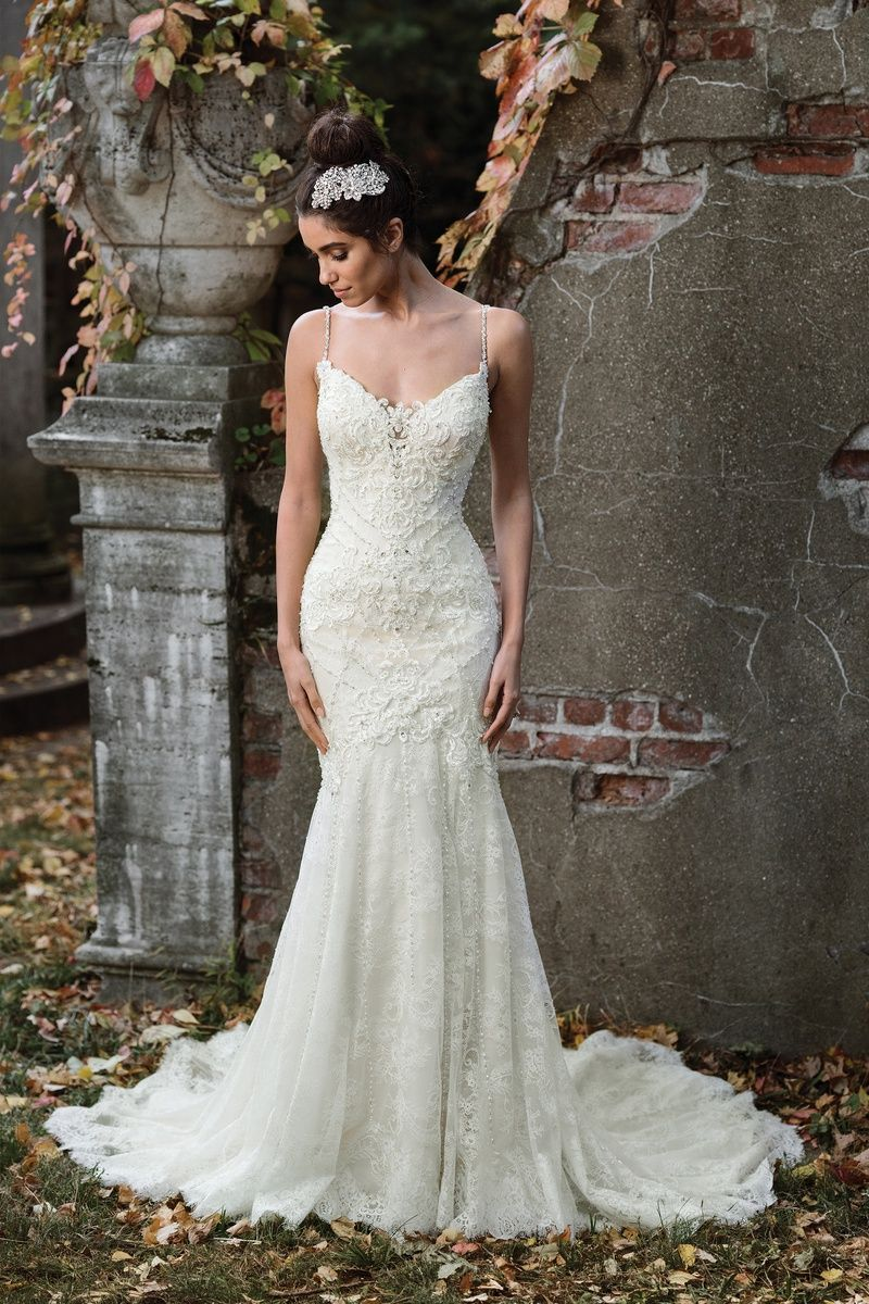 Justin alexander wedding dresses  Justin Alexander Signature Geometric Hand Beaded Bridal Gown with
