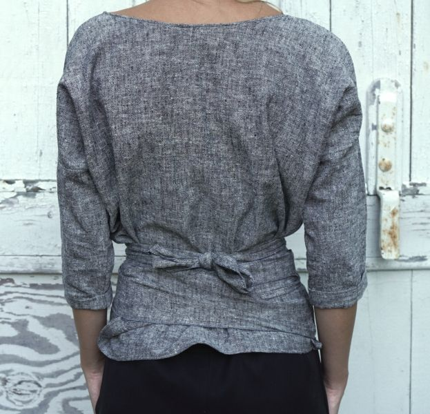 Ainslie wrap top in organic cotton.