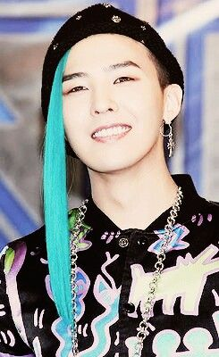 G Dragon O My Gawd I Love His Hair Color G Dragon Bigbang Blue Hair