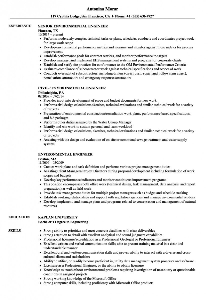 13 Launch Practice Engineer Resume di 2020 Proposal