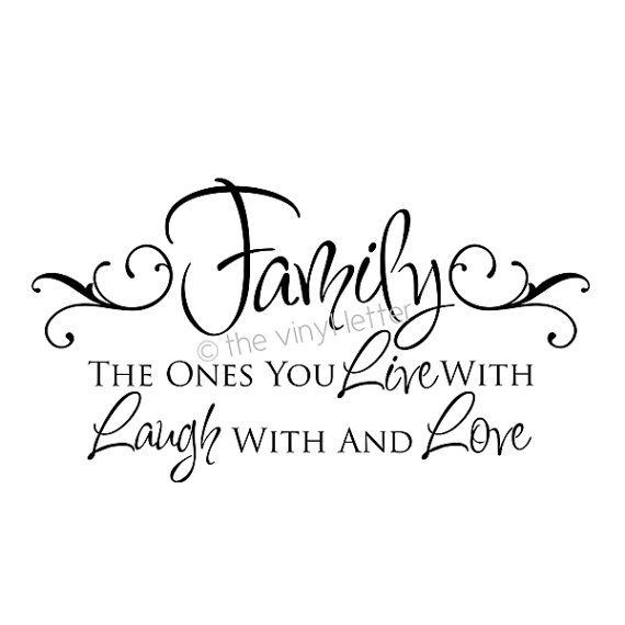 Family Live Laugh Love   Vinyl Wall Home Decor Decal Sticker