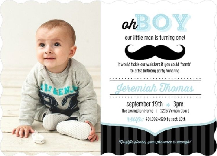 1st Birthday Invitation Background Designs Blank For Boy Party