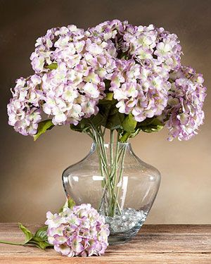 Hydrangea Silk Flower Stems For Arranging At Petals Hydrangea Flower Arrangements Flower Arrangements Diy Fake Flower Arrangements