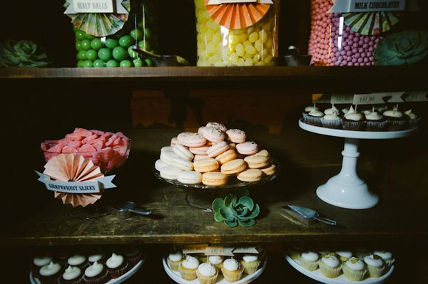 macaron dessert displays  {very merry events:: alfred & emma photography via Ruffled}