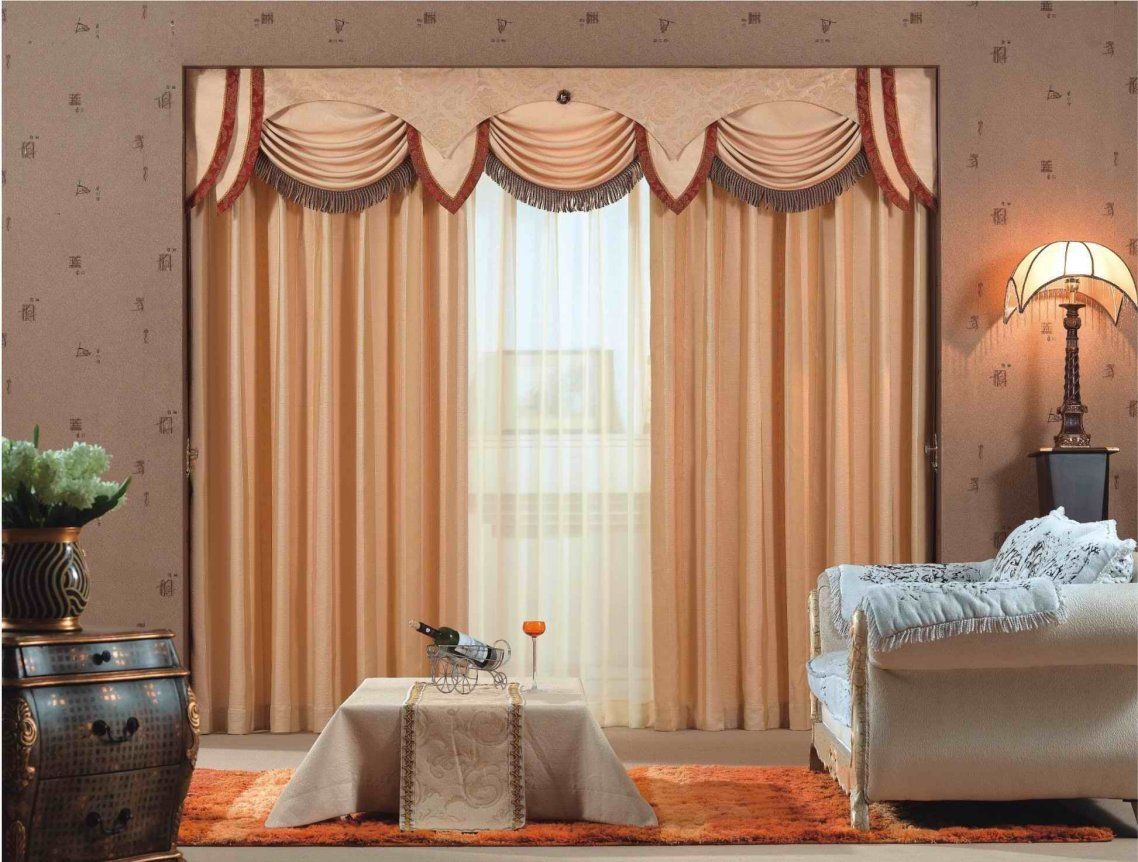 Curtain Design Ideas For Living Room Beauty Creamy Curved Valance Delectable Living Room Curtains Design 2018