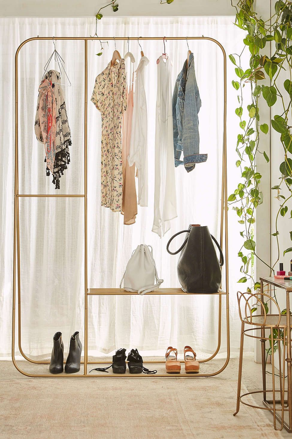 Kleiderständer Urban Outfitters Calvin Double Clothing Rack Interior Home Decor Garment Racks